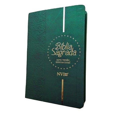 Bíblia Sagrada NVI Letra Gigante Capa Dura Verde Geográfica