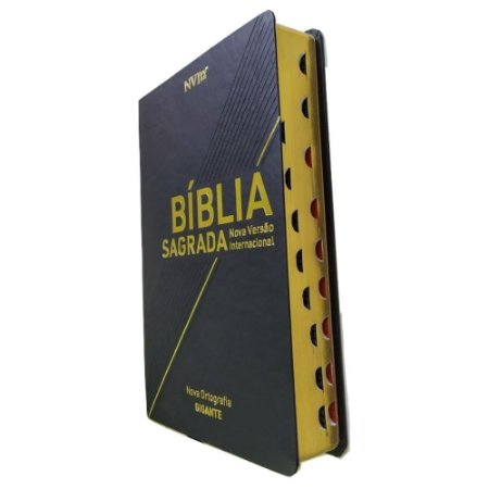 Bíblia Sagrada NVI Letra Gigante Capa Luxo Preta Geográfica