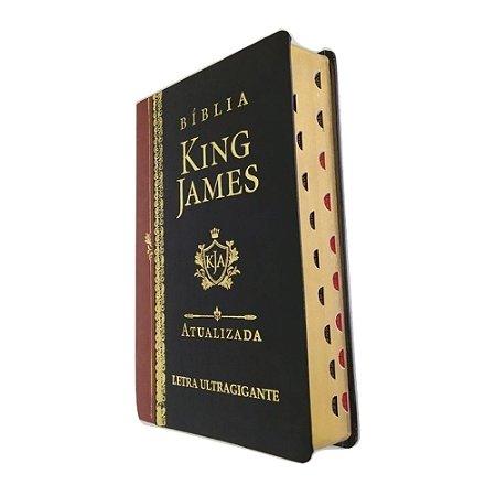 Bíblia King James Atualizada Letra Ultragigante Luxo Preta