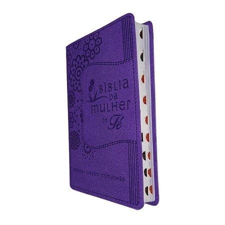 Bíblia da Mulher de Fé NVI Capa Luxo Roxa Thomas Nelson