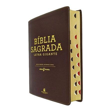 Bíblia Leitura Perfeita Capa Couro Soft Marrom Letra Gigante