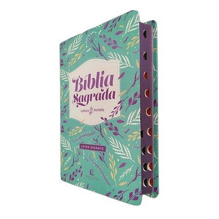 Bíblia Leitura Perfeita Capa Feminina Letra Gigante