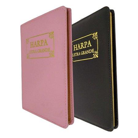 Kit com 2 Harpas Letra Grande Capa Luxo - Preta e Rosa