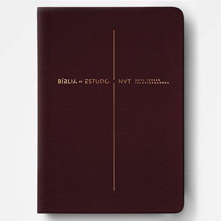 Bíblia de Estudo Nvt Vinho - Mundo Cristão