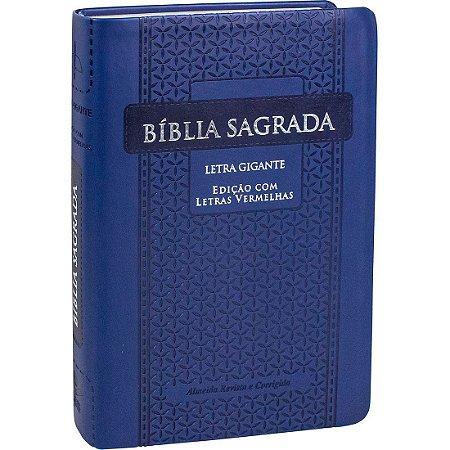 Bíblia Sagrada Letra Gigante Azul Arabesco Com Índice Sbb