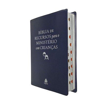 Bíblia De Recursos Para o Ministério Com Crianças - Azul