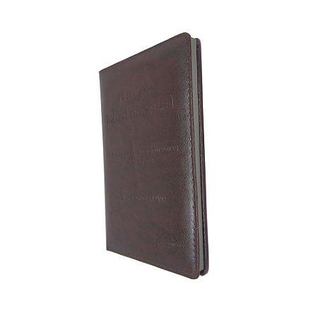 Harpa Pentecostal 692 Com Corinhos Letra Gigante - Marrom Kc