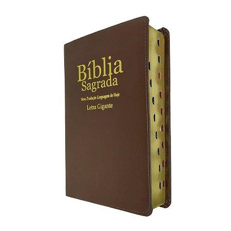 Bíblia Sagrada Letra Gigante NTLH Marrom- Sbb