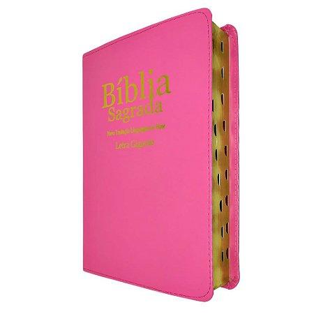 Bíblia Sagrada Letra Gigante NTLH Pink - Sbb
