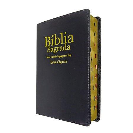 Bíblia Sagrada Letra Gigante NTLH Preta - Sbb
