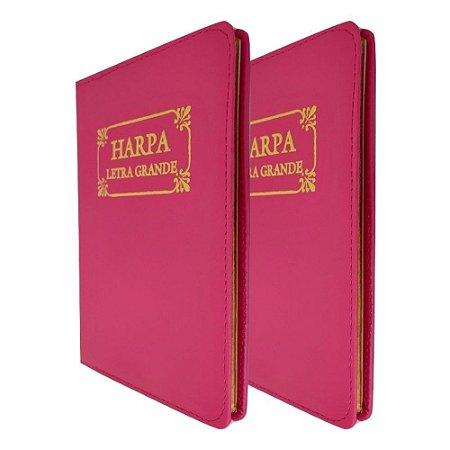 Kit com 2 Harpa Cristã Original com Corinhos - Pink