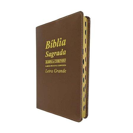 Bíblia Sagrada Letra Grande Marrom - Promessas