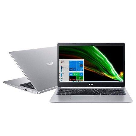 NOTEBOOK ACER ASPIRE 5 I5-1035G1 8GB 256GB SSD PLACA DE VIDEO NVIDIA MX 350 2GB DDR5 15.6P WIND 10 PRATA