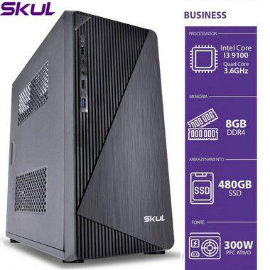 COMPUTADOR SKUL B300 CORE I3-9100 3.6GHZ MEM 8GB DDR4 SSD 480GB SEM SISTEMA