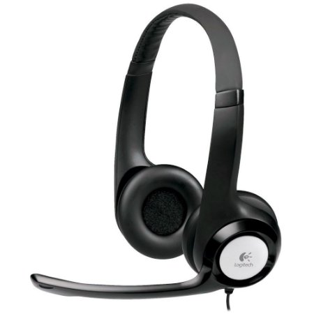 FONE DE OUVIDO HEADSET LOGITECH H390 COM MICROFONE USB PRETO