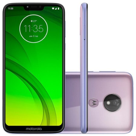 "SMARTPHONE MOTOROLA G7 POWER 64GB 12MP 6.2"" ANDROID 9.0 LILAC"