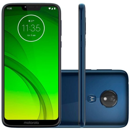 "SMARTPHONE MOTOROLA G7 POWER 32GB 12MP 6.2"" ANDROID 9.0 AZUL NAVY"