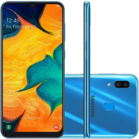 "SMARTPHONE SAMSUNG GALAXY A30 TV 64GB 6.4"" ANDROID 9.0 AZUL"
