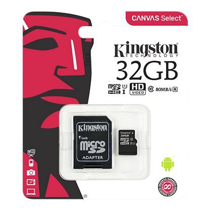CARTAO DE MEMORIA KINGSTON CLASSE 10 32GB PRETO (SDCS/32GB)