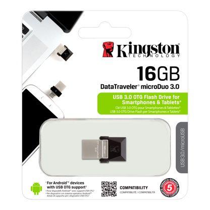 PENDRIVE P/ SMARTPHONE KINGSTON OTG 16GB MICRO DUO USB  3.0