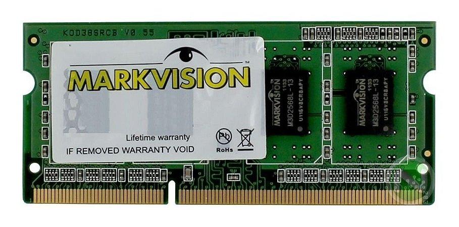 MEMORIA MARKVISION PARA NOTEBOOK 8GB DDR4 MVD48192MLD-24 2400MHz