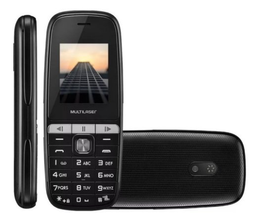 CELULAR MULTILASER UP PLAY DUAL CHIP BLUETOOTH MP3 PRETO