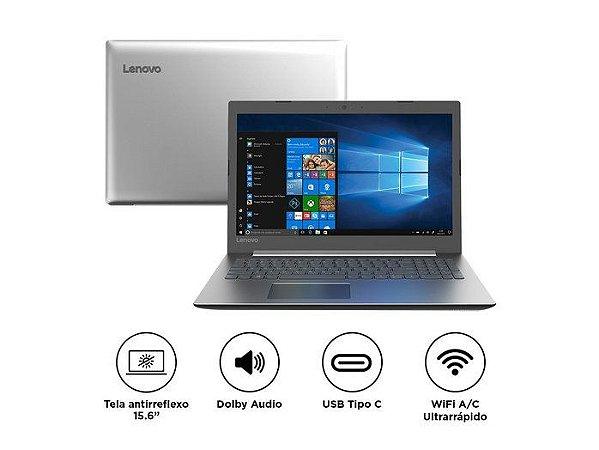 "NOTEBOOK LENOVO IDEAPAD 330 i3-7020U 4GB 1TB 15.6"" WINDOWS 10 PRATA"