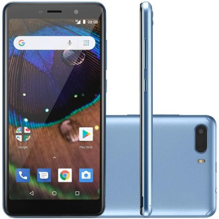"SMARTPHONE MULTILASER ANDROID MS50X 16GB 8MP 5.5"" AZUL"