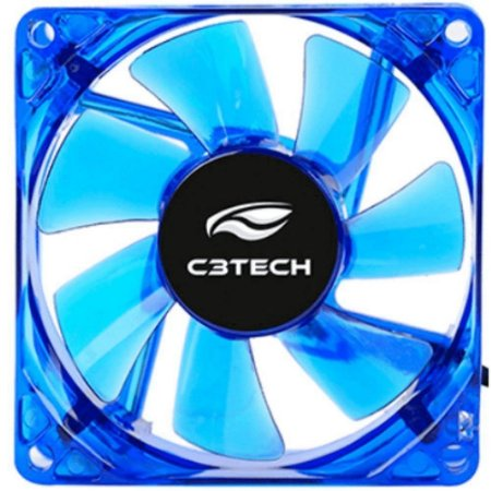 COOLER FAN C3TECH PARA GABINETE F7-L50BL STORM 8CM LED AZUL