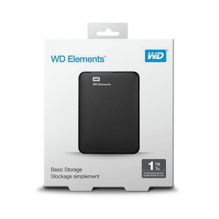 HD EXTERNO WD PORTATIL ELEMENTS USB 3.0 1TB WDBUZG0010BBK