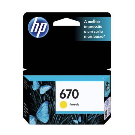 CARTUCHO DE TINTA CZ116AB HP 670 AMARELO