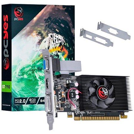 PLACA DE VIDEO PCYES NVIDIA GEFORCE GT710 2GB DDR3 PA710GT6402D3LP