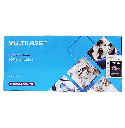 TONER MULTILASER COMPATIVEL SAMSUNG  MLT-D111S 1000PGS PRETO