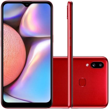 "SMARTPHONE SAMSUNG GALAXY A10S 32GB 13MP 6.2"" ANDROID VERMELHO"
