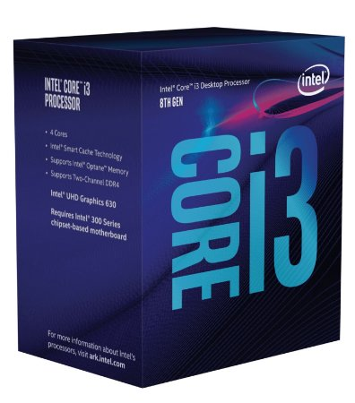 PROCESSADOR INTEL CORE I3 8100 3.60 GHZ 6MB CACHE LGA 1151 BX80684I38100IS