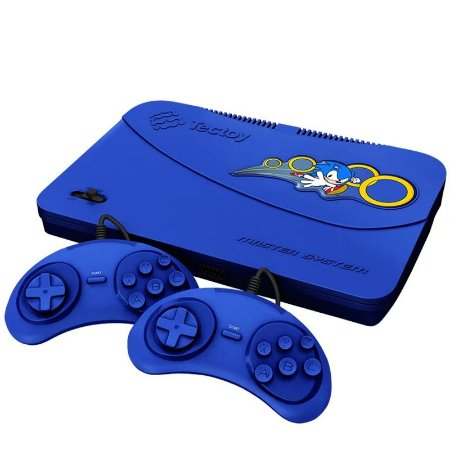 VIDEO GAME TECTOY MASTER SYSTEM EVOLUTION AZUL 2 CONTROLES C/ FIO