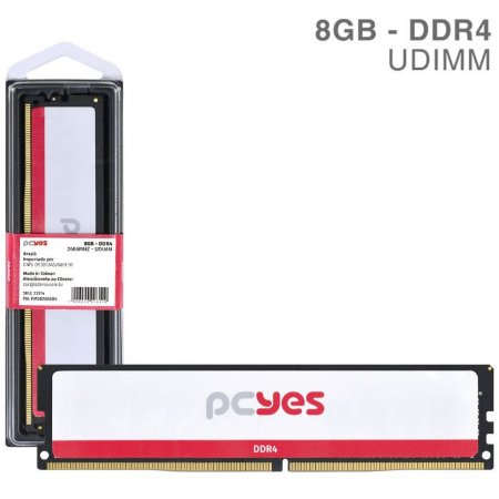MEMORIA P/ DESKTOP PCYES 8GB DDR4 2666MHz PM082666D4