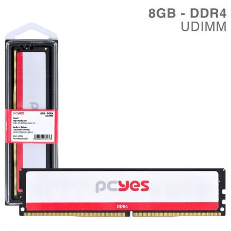MEMORIA P/ DESKTOP PCYES 8GB DDR4 2400MHZ PM082400D4