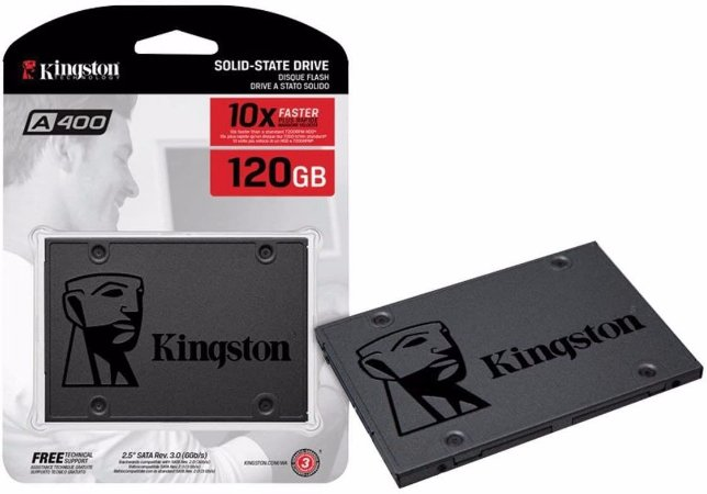 DISCO INTERNO SSD KINGSTON 120GB 2.5 SATA SA400S37/120GB 500MBPS