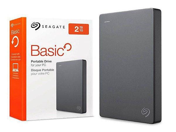 HD EXTERNO SEAGATE 2TB USB 3.0 STJL2000400 CINZA