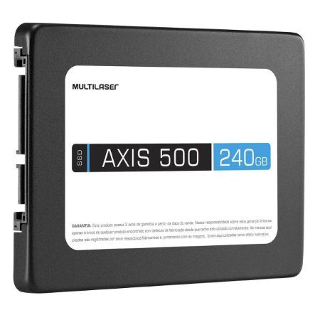 DISCO INTERNO SSD AXIS 500 MULTILASER 240GB 2.5 SATA 500MBPS