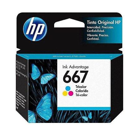 CARTUCHO DE TINTA HP 667 3YM78AL TRICOLOR