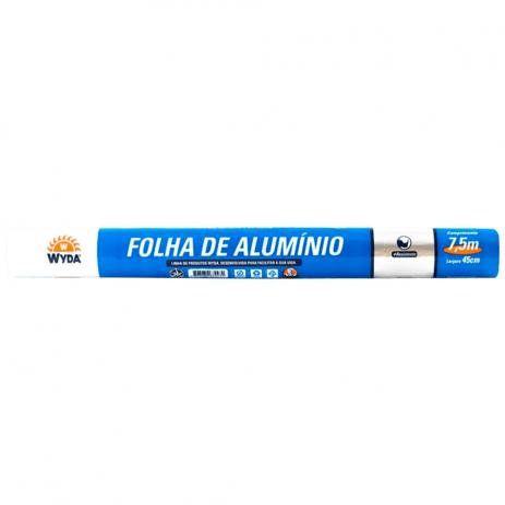 Papel Alumínio 45cm x 7,5m - Wyda