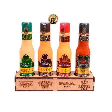 Kit Sabores com 4 molhos de Pimenta - Mendez
