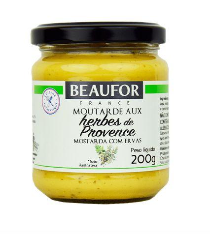 Mostarda Dijon Com Ervas Da Provence 200grs - Beaufor
