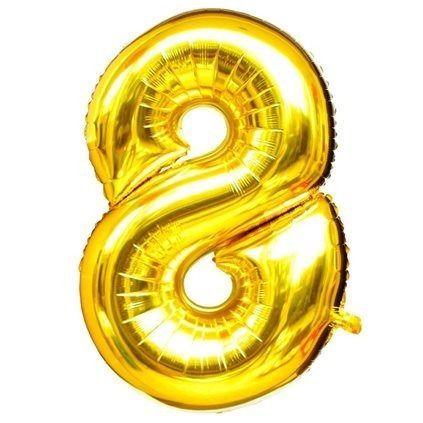 Balão Dourado N8 - 75 cm - Br festas