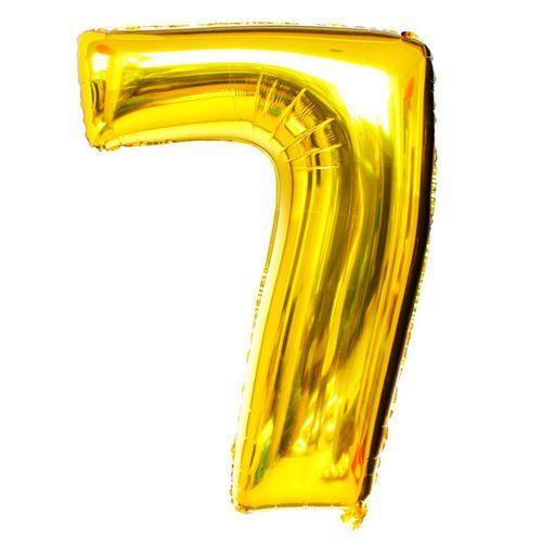 Balão Dourado N7 - 75 cm - Br festas
