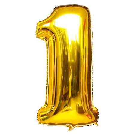 Balão Dourado N1 - 75 cm - Br festas