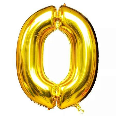 Balão Dourado N0 - 75 cm - Br festas