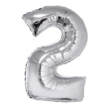 Balão Prata N2 - 75 cm - Br festas